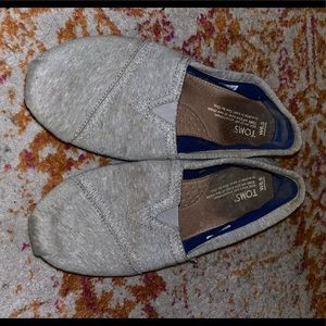 Toms Shoes - Toms jersey light grey heather flats size 6.5